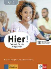 Hier! A1.2 Studentenboek en Übungsbuch met Audios en Videos