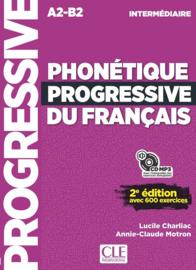 Phonétique progressive du français - Niveau intermédiaire - Livre + CD - 2ème édition Nouvelle couverture
