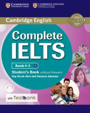 Complete IELTS Bands4-5B1 Student's Book without answers with CD-ROM with Testbank