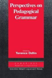 Perspectives on Pedagogical Grammar Paperback