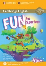 Fun for Starters, Movers and Flyers Fourth edition Starters Student's Book with audio with online activities