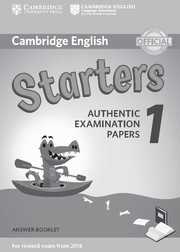 Cambridge English Young Learners 1 Starters Answer Booklet