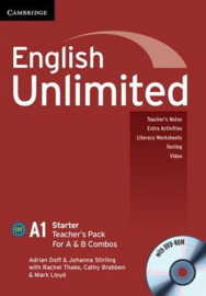 English Unlimited Combos Starter A and B Teacher's Pack (Teacher's Book with DVD-ROM)