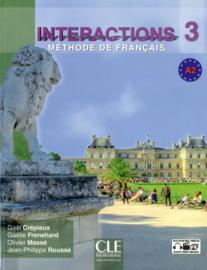 Interactions 3 - Niveau A2 - Livre de lélève + DVD Rom