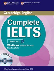 Complete IELTS Bands4-5B1 Workbook without answers with Audio CD