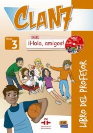 Clan 7 con ¡Hola, amigos! 3 - Libro del profesor