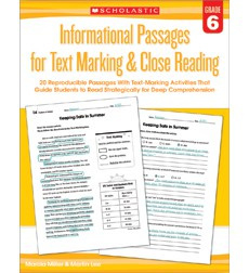 Informational Passages for Text Marking  Close Reading: Grade 6