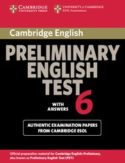 Cambridge Preliminary English Test 6 Student's Book with answers