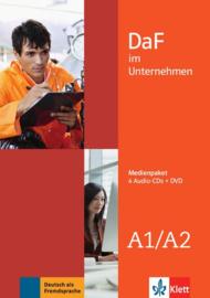 DaF im Unternehmen A1-A2 Multimediapakket (4 Audio-CDs + DVD)