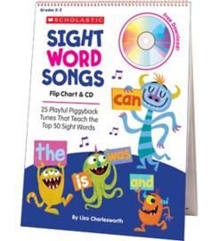 Sight Word Songs Flip Chart  CD