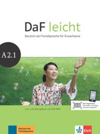 DaF leicht A2.1 Studentenboek en Übungsbuch met DVD-ROM