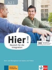 Hier! A2.1 Studentenboek en Übungsbuch met Audios en Videos