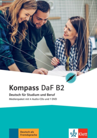 Kompass DaF B2 Multimediapakket (4 Audio-CDs + 1 DVD)