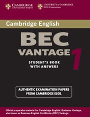 Cambridge BEC 1 Vantage Student's Book with answers