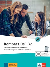 Kompass DaF B2 Studentenboek en Oefenboek met Audio en Video