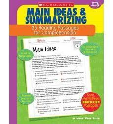 35 Reading Passages for Comprehension: Main Ideas  Summarizing