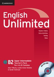 English Unlimited Combos Upper Intermediate A and B Teacher's Pack (Teacher's Book with DVD-ROM)