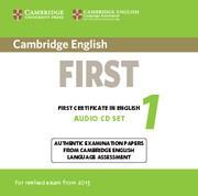 Cambridge English First 1 Audio CDs (2)