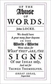 Of The Abuse Of Words (John Locke)