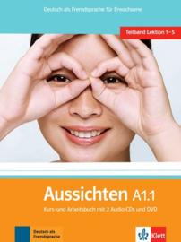 Aussichten A1.1 Studentenboek/Werkboek met 2 Audio-CDs + DVD
