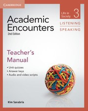 Academic Encounters Second edition Level 3 Teacher's Manual Listening and Speaking