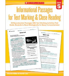Informational Passages for Text Marking  Close Reading: Grade 5