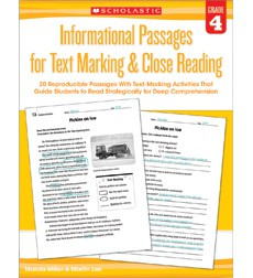 Informational Passages for Text Marking  Close Reading: Grade 4