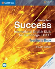 Success International English Skills for IGCSE® Fourth Edition Teacher's Book with Audio CD