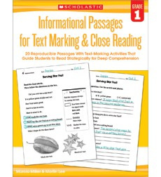 Informational Passages for Text Marking  Close Reading: Grade 1