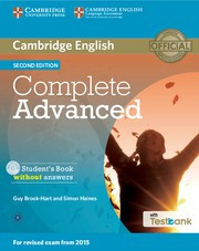 Complete Advanced Second edition Student's Book without answers with CD-ROM with Testbank