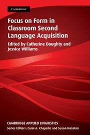 Focus on Form in Classroom Second Language Acquisition Paperback