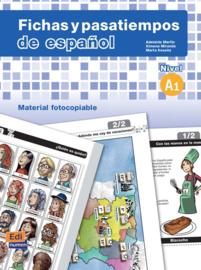 Fichas y pasatiempos de español. Nivel A1