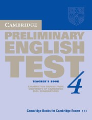 Cambridge Preliminary English Test 4 Teacher's Book