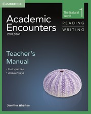 Academic Encounters Second edition Level 1 Teacher's Manual Reading and Writing