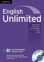 English Unlimited Pre-intermediate Teacher's Pack (Teacher's Book with DVD-ROM)