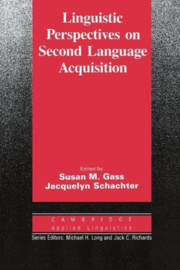 Linguistic Perspectives on Second Language Acquisition Paperback