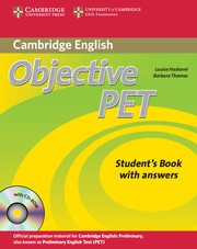 Objective PET Second edition Self-study Pack (Student's Book with answers with CD-ROM and Audio CDs(3))