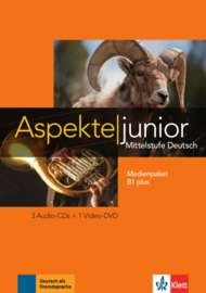 Aspekte junior B1 plus Multimediapakket (3 Audio-CDs + Video-DVD)