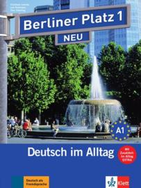 """Berliner Platz 1 NEU Studentenboek en Werkboek met 2 Audio-CDs bij het Werkboekteil en """"Im Alltag EXTRA"""""""