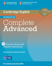 Complete Advanced Second edition Teacher's Book with Teacher's Resources CD-ROM