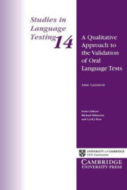 A Qualitative Approach to the Validation of Oral Language Tests Paperback