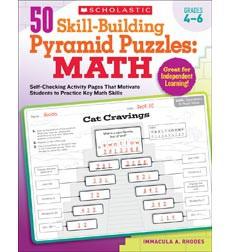 50 Skill-Building Pyramid Puzzles: Math: Grades 4-6