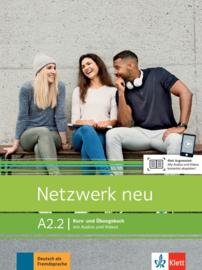 Netzwerk neu A2.2 Studentenboek en Oefenboek met Audios en Videos