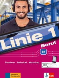 Linie 1 Beruf B1 Situationen, Redemittel, Wortschatz Kurs- und Übungsbuch mit Audios
