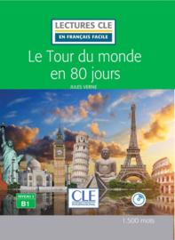 Le tour du Monde en 80 jours - Niveau 3/B1 - Lectures CLE en Français facile - Livre + CD - 2ème édition