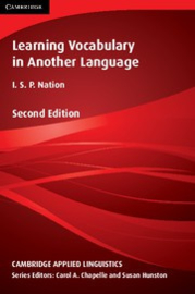 Learning Vocabulary in Another Language Second edition Hardback