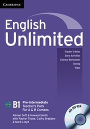 English Unlimited Combos Pre-intermediate A and B Teacher's Pack (Teacher's Book with DVD-ROM)