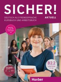 Sicher! aktuell B2.2 Studentenboek en Werkboek met MP3-CD bij het Werkboek Les 7-12