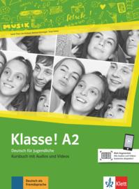 Klasse! A2 Studentenboek met Audio en Video