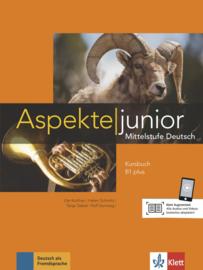Aspekte junior B1 plus Studentenboek met Audio en Video